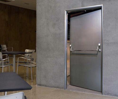 swing door / exterior / industrial / fireproof
