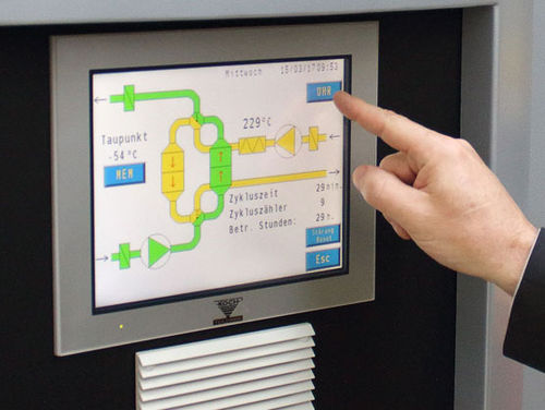 multitouch screen control panel