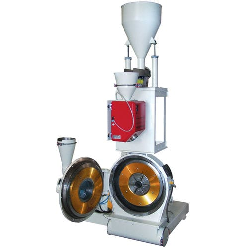 disc mill / vertical / for plastics / for rubber