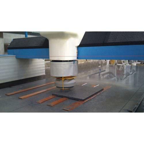 metal polishing machine / for flat parts / automatic / CNC