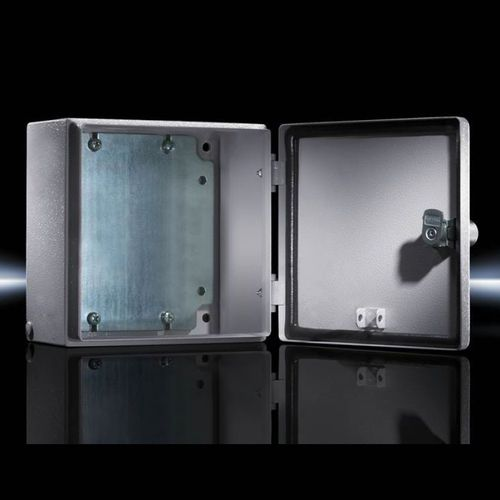 wall-mount enclosure / rectangular / sheet steel / with door
