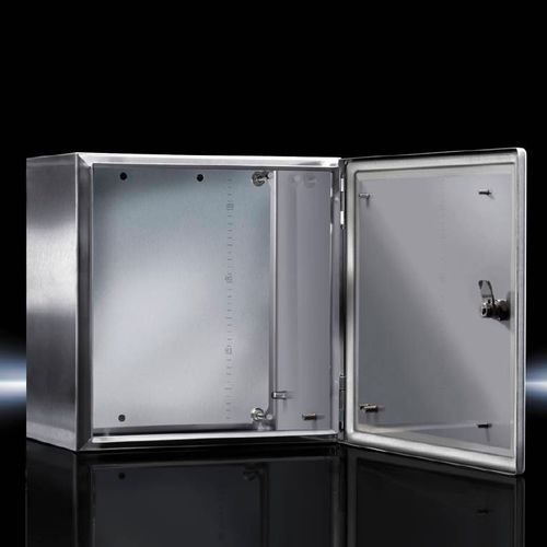 explosion-proof enclosure / rectangular / stainless steel / empty