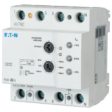 DIN rail mount current monitor / leak PDIM series  Eaton