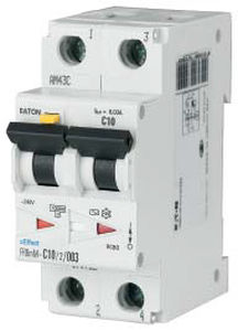 Differential circuit breaker / residual current / 2-pole / miniature  PKP series  Eaton
