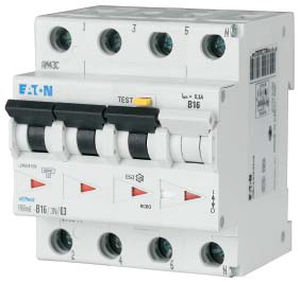 Differential circuit breaker / residual current / 3-pole / miniature FRBm series  Eaton