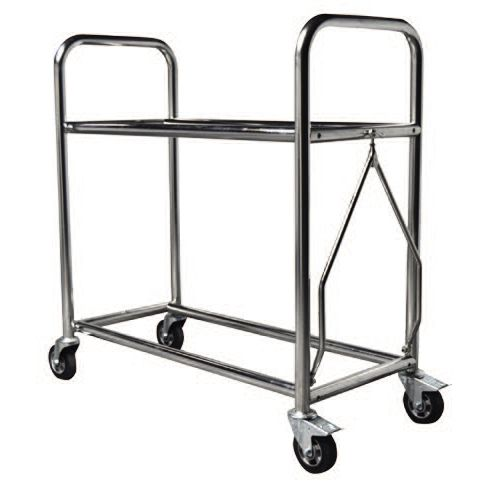 transport cart / stainless steel / 2 levels