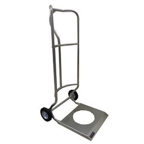 transport cart / stainless steel / folding