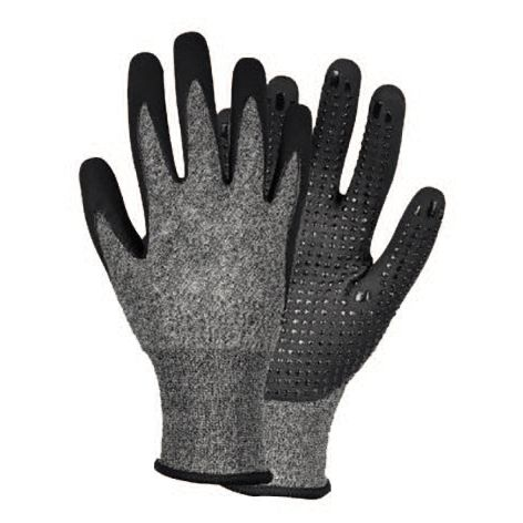work glove / chemical protection / abrasion-resistant / nitrile