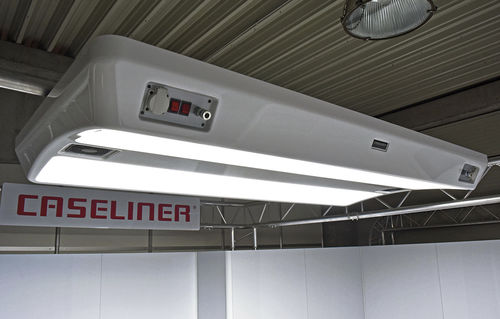 ceiling-mounted lighting / LED / assembly workplace / suspended