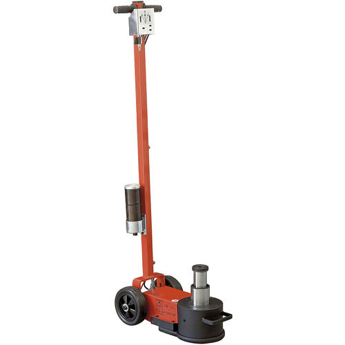 hydraulic jack / pneumatic / for heavy loads / 2-stage