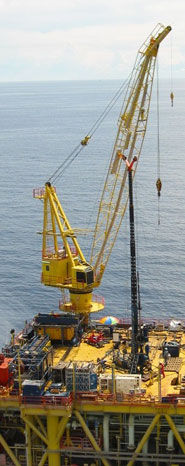 fixed crane / luffing jib / for offshore applications / diesel-powered