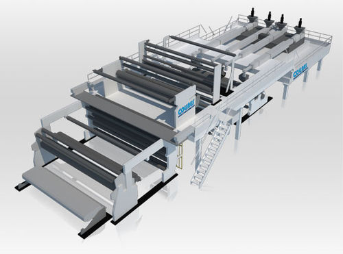 Flat-film extrusion line / for stretch film / for PP / multilayer Polycast® series COLINES® S.p.A.