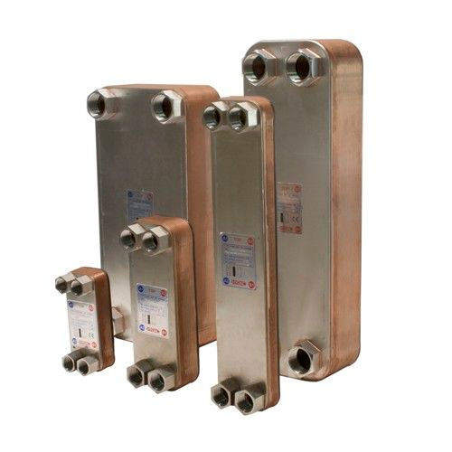 brazed plate heat exchanger / liquid/liquid / copper / nickel