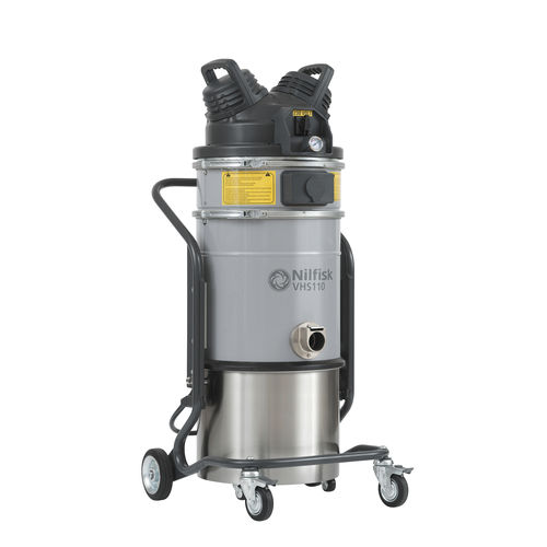 dry vacuum cleaner / single-phase / industrial / stainless steel