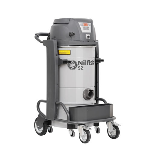 Wet and dry vacuum cleaner / single-phase / industrial / mobile S2 series Nilfisk Industrial Vacuum Solutions