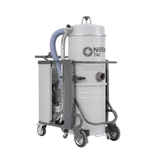 Wet and dry vacuum cleaner / three-phase / industrial / mobile T40 series Nilfisk Industrial Vacuum Solutions