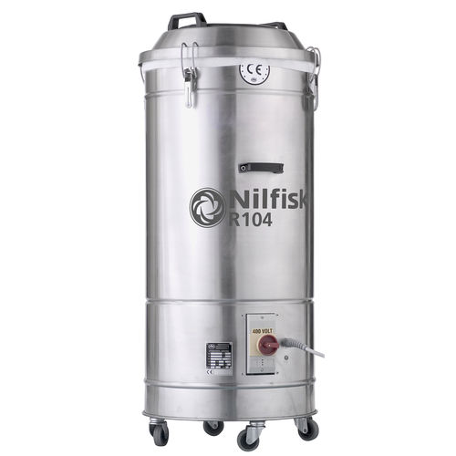 Waste vacuum cleaner / three-phase / industrial / stainless steel R 104 series Nilfisk Industrial Vacuum Solutions