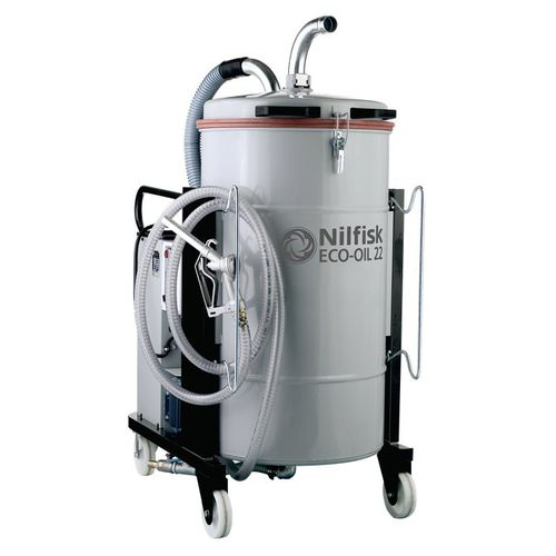 oil and chip vacuum cleaner / three-phase / industrial / with solid-liquid separator