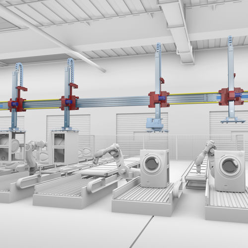 pick-and-place robotic cell / for machine tools / high-flexibility