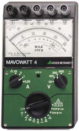 Power meter / cutting edge / analog / three-phase MAVOWATT 4   GOSSEN METRAWATT