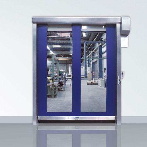 roll-up door / stainless steel / indoor / design