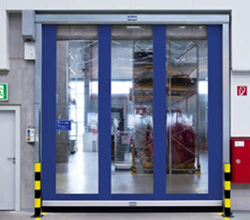 roll-up door / PVC / industrial / indoor