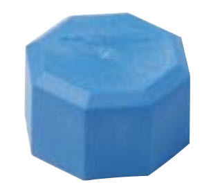 threaded end cap / with hexagonal head / polypropylene