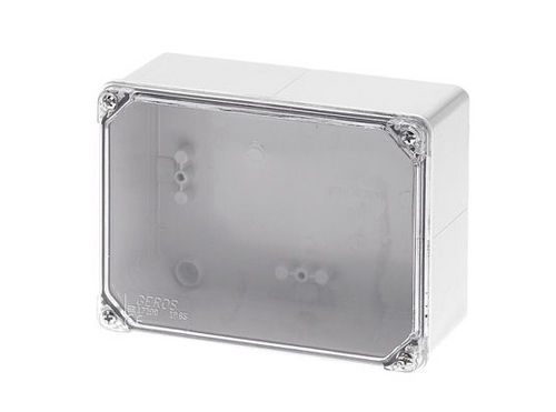 wall-mounted junction box / IP65 / polycarbonate / with transparent cover