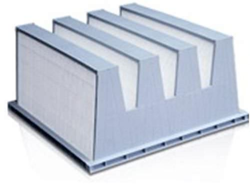 Air filter / bag / V-form / dust max. 80 °C, 450 Pa | Turbohepa TRH MGT FILTRIxARIA