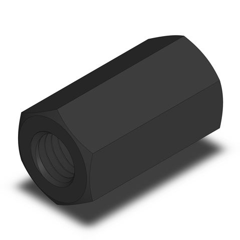 hexagonal nut / steel alloy / extension