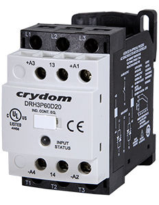 Solid-state contactor / AC output / three-phase / DIN rail DRH Series Crydom