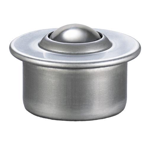 light-duty ball transfer unit / stainless steel / steel / flanged