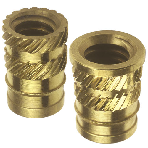 Threaded insert / knurled / metal / round 19, 20 series  SPIROL