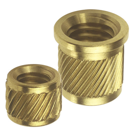 Threaded insert / press-in / knurled / metal 50, 51 series  SPIROL