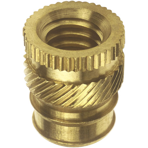 Threaded insert / knurled / metal / round 14 series SPIROL