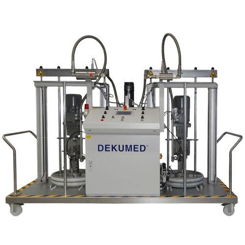 Resin mixer-dispenser / with gear pump / two-component UNIDOS 300 TX/MP 200 HV Dekumed Kunststoff- und Maschinenvertrieb GmbH & C