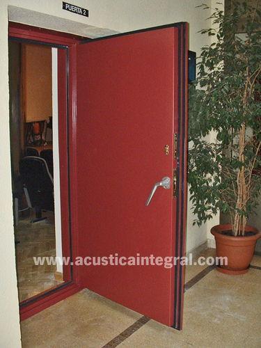 acoustic door / swing / metal / industrial