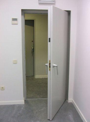 swing door / metal / indoor / exterior