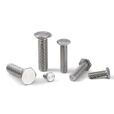bolt with hexagonal head / stainless steel