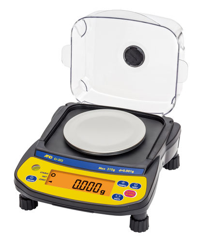 precision balance / laboratory / with LCD display / compact