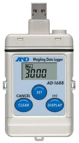 weight data-logger / USB / RS-232C / with LCD display
