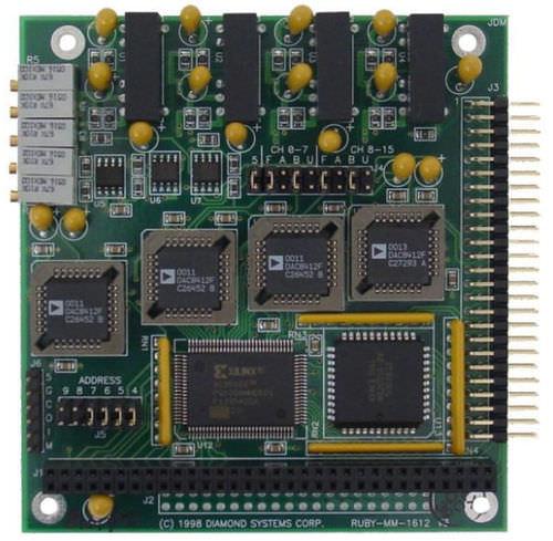 Analog output module Ruby-MM-412/812/1612  Diamond Systems