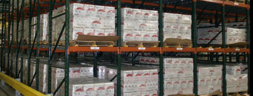 Picking storage shelving / pallet / flow / for cartons max. 3 000 lb | Gravity Ridg-U-Rak