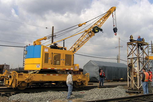 Lattice crane / boom / rail / for construction sites max. 20 t | SPR48 Little Giant Crane & Shovel