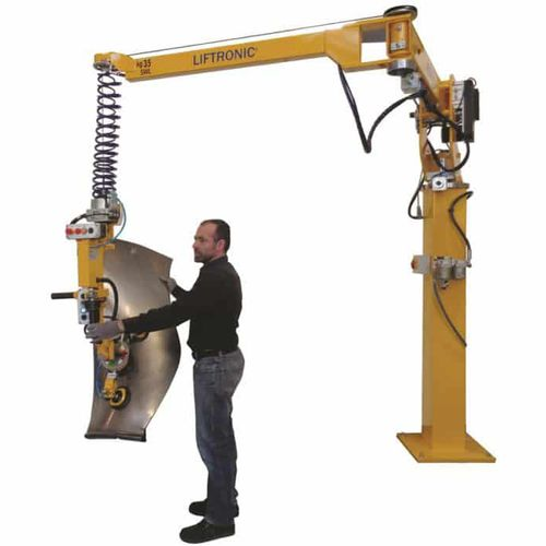 pillar manipulator / electric / with gripping tool / with suction cup