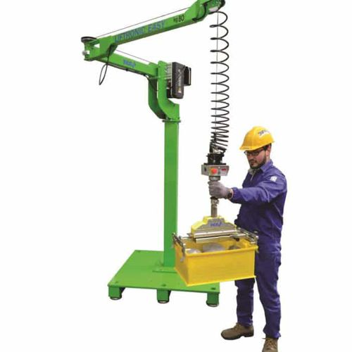 electric manipulator / with gripping tool / vacuum / with hook
