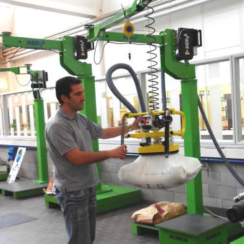 electric manipulator / with suction cup / with orbital end effector / for sacks