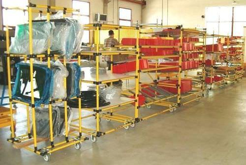Storage warehouse shelving / light-duty / dynamic Scaglia Indeva