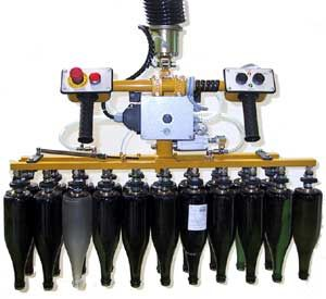 Pneumatic manipulator / multi-grip / positioning / for glass bottles Scaglia Indeva