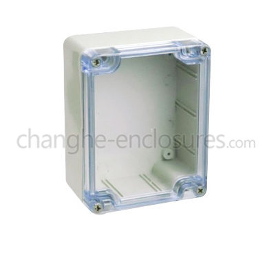 wall-mounted junction box / IP65 / plastic / with transparent cover